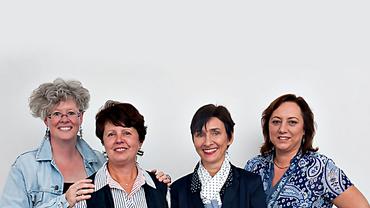 Gruppenfoto der Referentinnen und Mitarbeiterinnen des Bereich Frauen- und Gleichstellungspolitik in der ver.di Bundesverwaltung