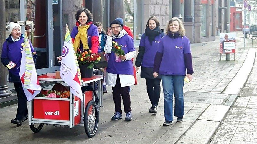 Frauenaktion am 8.März
