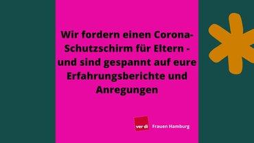Aufruf Frauen Hamburg Corona Schutzschirm Eltern