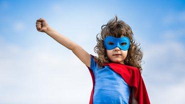 Mädchen Kind Superheldin